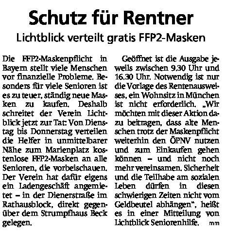 08.02.2021 | Münchner Merkur | Schutz für Rentner