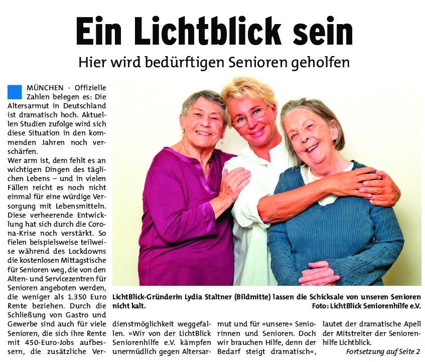 20.01.2021 | Münchner Wochenblatt | Ein Lichtblick sein