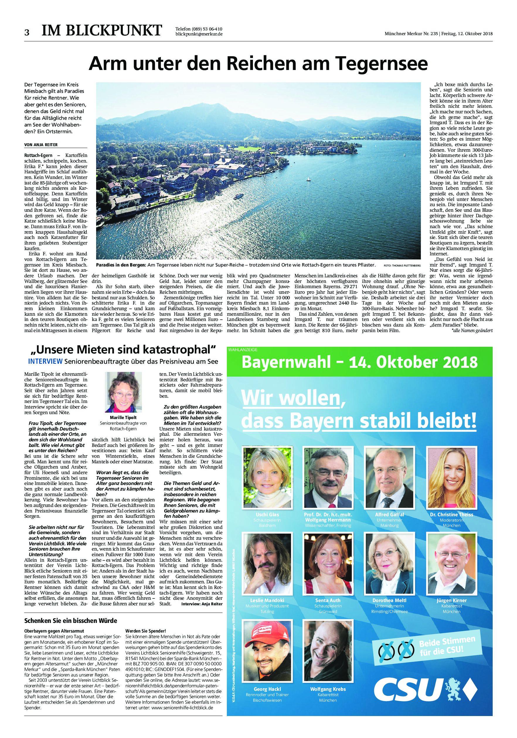 12.10.2018   MM   Arm unter den Reichen am Tegernsee