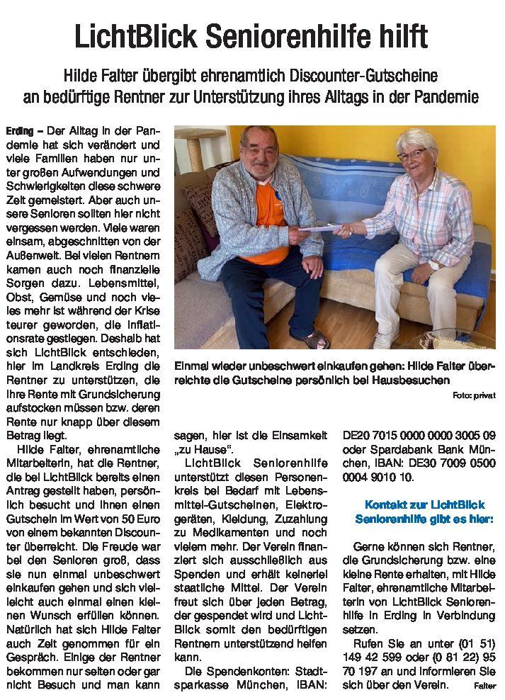 19.06.2021 | Hallo Erding | LichtBlick Seniorenhilfe hilft