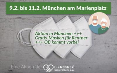 Aktion in München +++ Gratis-Masken für Rentner +++ OB kommt vorbei