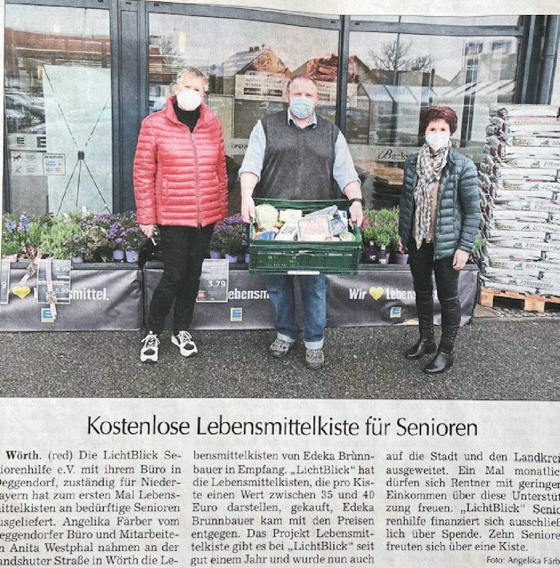 15.04.2021 | Landshuter Zeitung | Kostenlose Lebensmittel