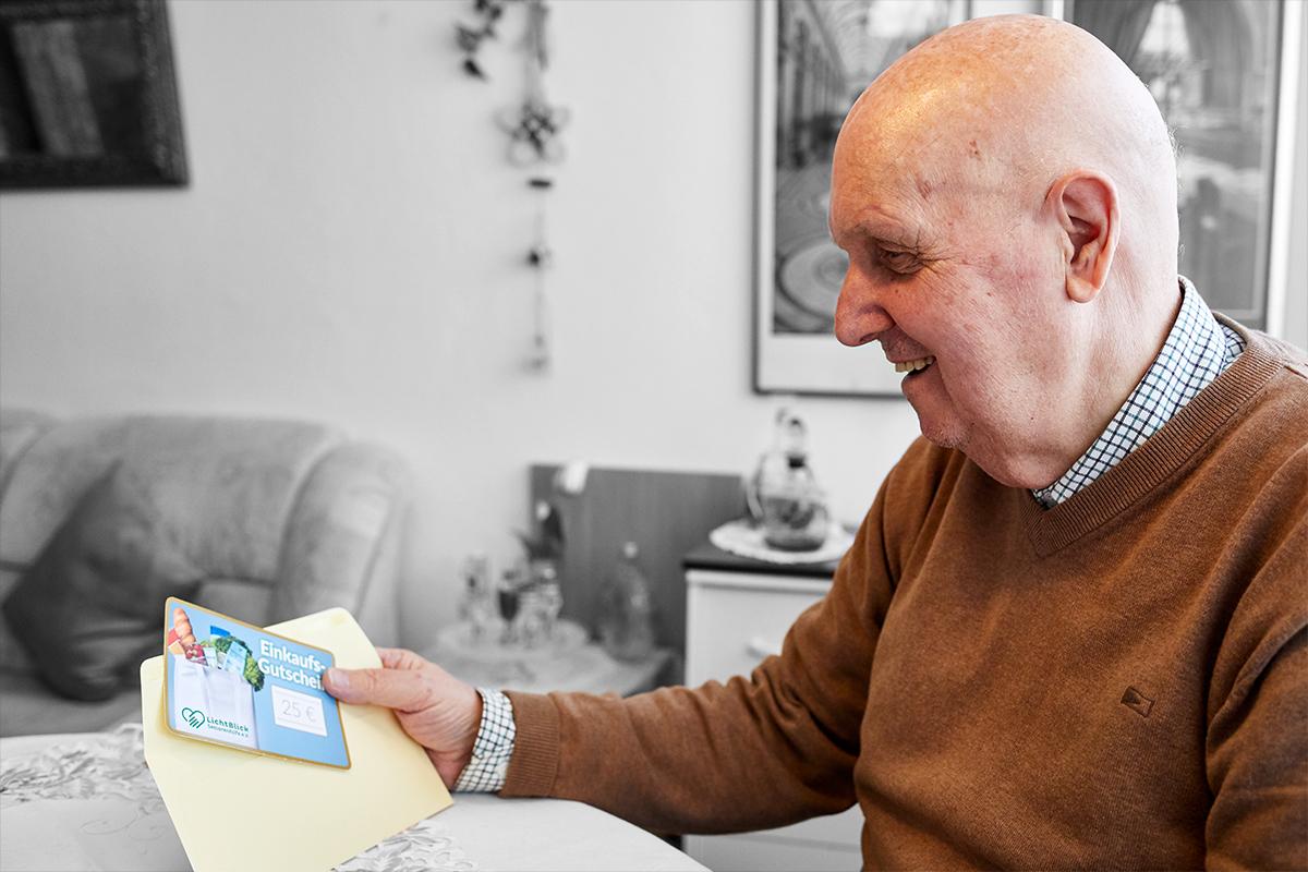Einkaufsgutscheine für Rentner in finanzieller Not