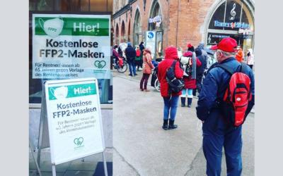 """Toller Start unserer """"Masken-Aktion"""" in München"""