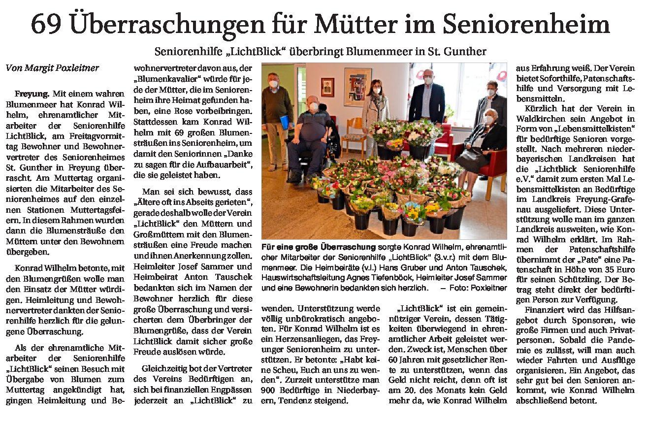 11.05.2021 | Passauer Neue Presse | 69 Überraschungen
